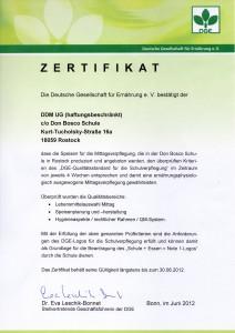 DGE Zertifizirung 2012